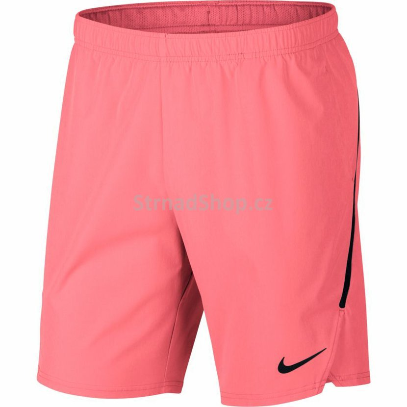f3e58c90abb Pánské kraťasy NIKE Court Flex Ace Tennis Shorts Lava glow Black ...